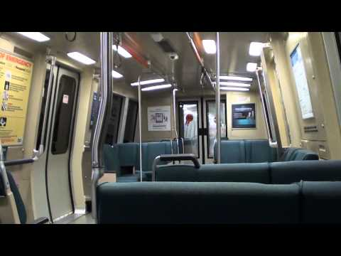 BART Out of San Francisco to the East Bay - Full Transbay Tube Ride (HD)