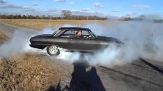 62 LS1 Chevy Nova nice burnout