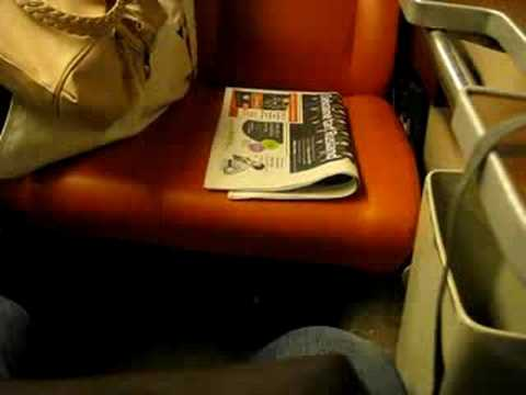 Newspaper on a train in Amsterdam