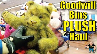 Giant Plush Stuffed Animal Haul - Thrifting the Goodwill Bins Outlet Fort Worth Texas - Ebay Seller