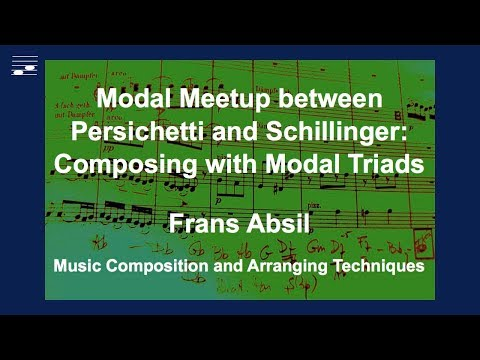 Modal Meetup between Persichetti and Schillinger: Composing with modal triads