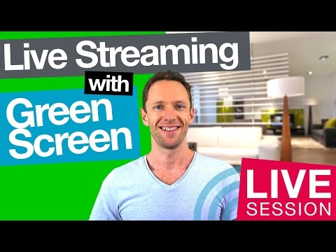 Live Streaming with Green Screen, Free Green Screen Training, plus Q&A! [LIVE]