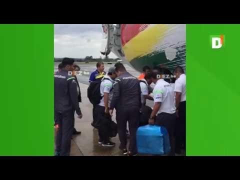 Así desembarcó la delegación boliviana en Brasilia