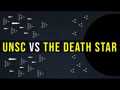 Could the UNSC HOME FLEET destroy the DEATH STAR? | Halo vs Star Wars