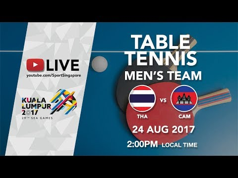 Table Tennis Men's Team: Thailand 🇹🇭 vs Cambodia 🇰🇭 | 29th SEA Games 2017
