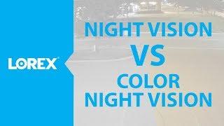 Lorex security camera night vision vs color night vision