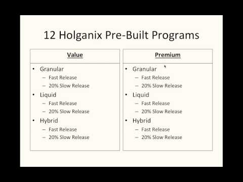 Holganix Webinar:  Designing Your Application Program