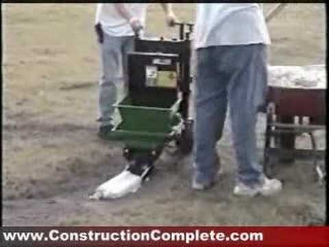 miller concrete landscape curbing machine youtube