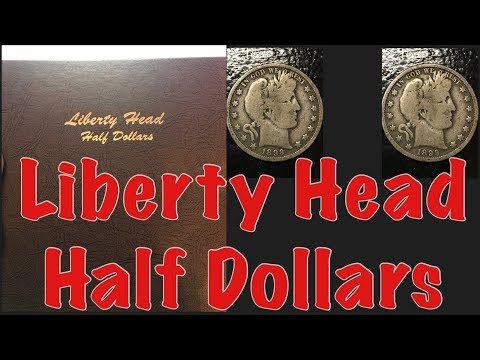 Valuable Barber Half Dollars. Liberty Head Half Dollar Collection