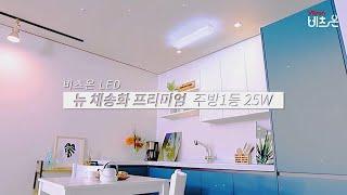 비츠온 LED 뉴 채송화 프리미엄 주방1등 25W