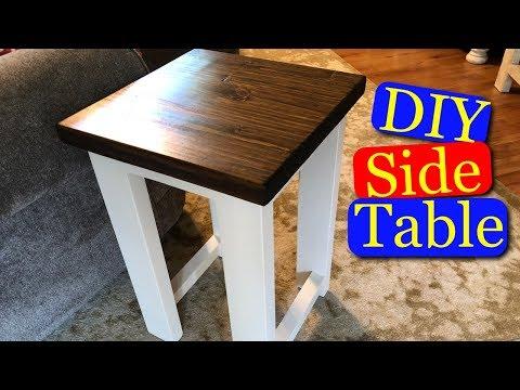 DIY Side Table (nightstand)