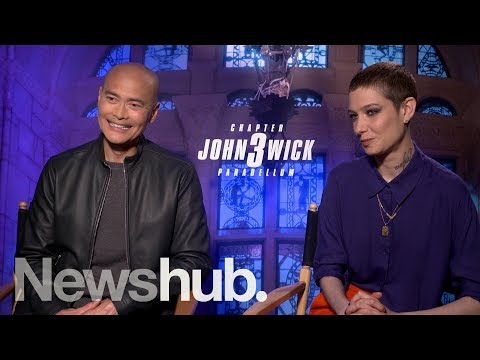 Mark Dacascos, Asia Kate Dillon Chat John Wick 3 | Newshub