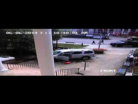 Forsyth County Courthouse shooting surveillance video RAW