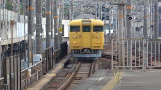 115系L-10編成 三原駅発車
