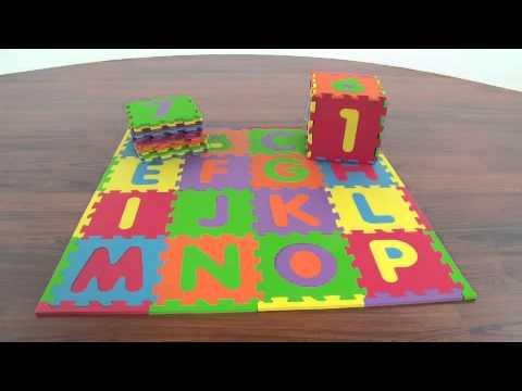 Imaginarium Alphabet Amp Numbers Foam Puzzle Mat Youtube