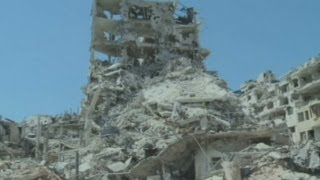 Destruction revealed: An entire Syrian district lies in ruins