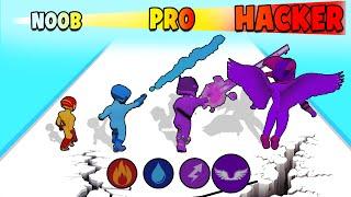 NOOB vs PRO vs HACKER in Superhero Transform Fight - Epic Fight 3D screenshot 1