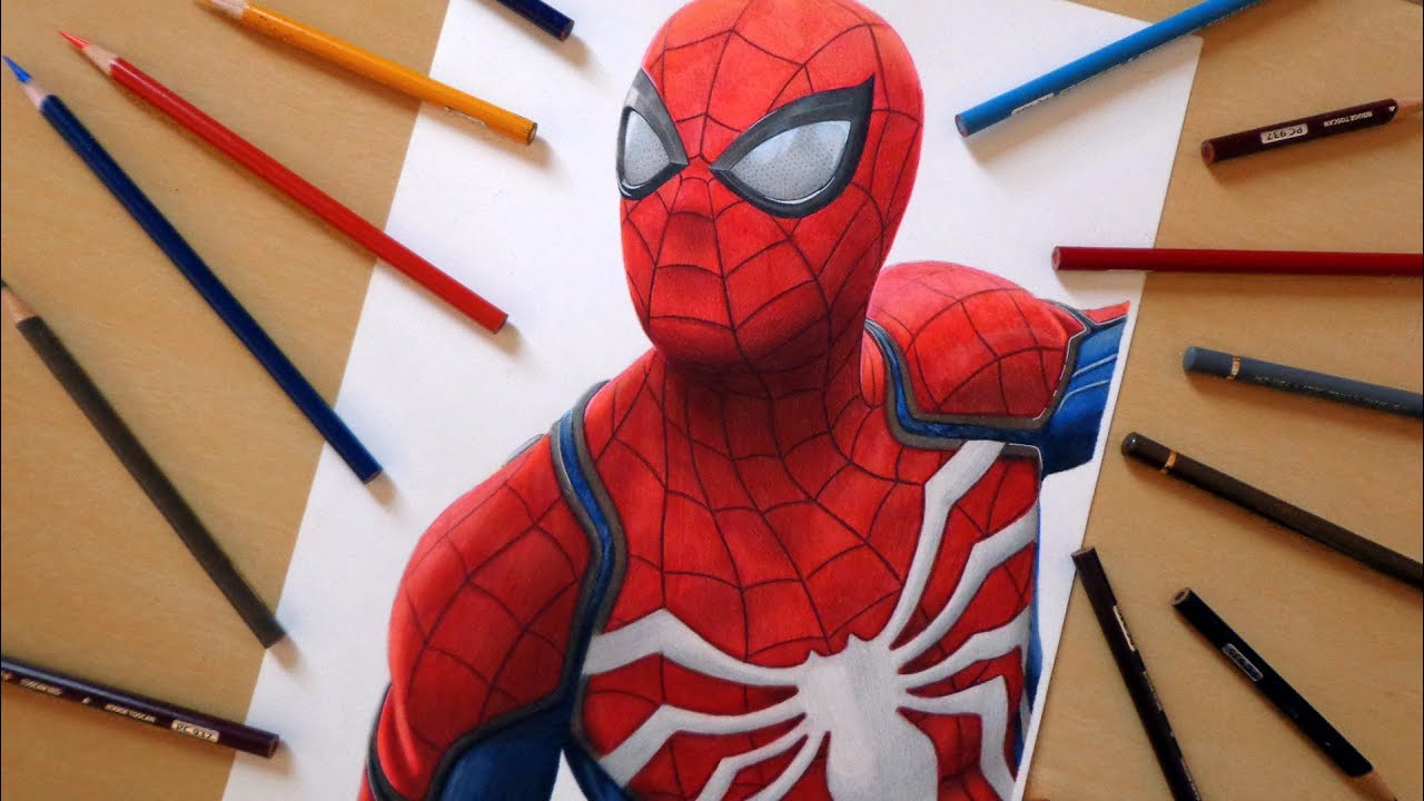 Speed drawing spider man playstation 4 game
