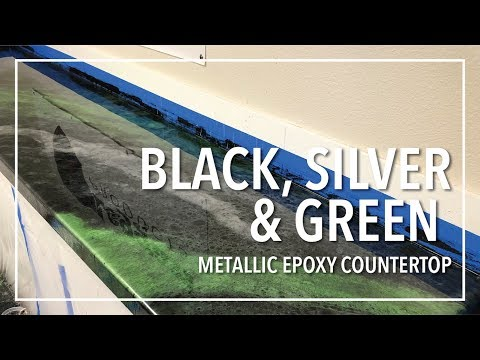Black & Green Apple Metallic Epoxy Countertop