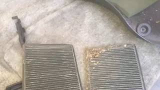 How to replace the cabin air filters on a 2000-2006 GMC Yukon Denali, Suburban, Tahoe, or Escalade