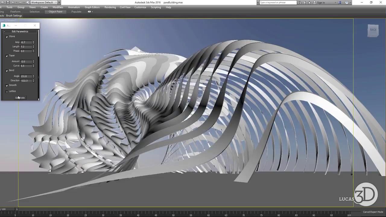 Parametric Structure Maxscript by Lucas Milner | Tool for modeling  Parametric Structure in 3ds Max