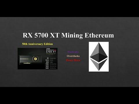 RX 5700 XT - Mining Ethereum
