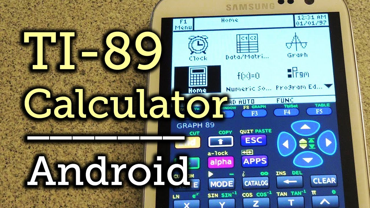 How to Use Your Android Phone as a TI-89 Graphing Calculator
