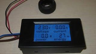 вольтамперметр с трансформатором тока распаковка и обзор