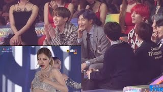 181201 BTS Reaction to 블랙핑크 (BLACKPINK) @MelOn Music Awards 2018