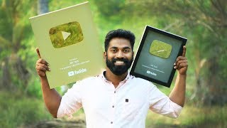 1st Gold Playbutton Unboxing In Kerala | അടിച്ചു മോനെ സ്വർണ പതക്കം | M4 Tech Gold Playbutton |