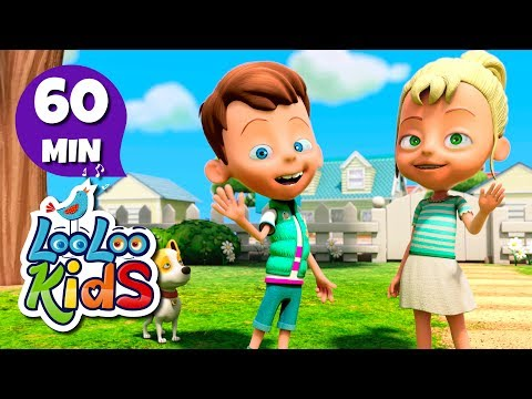 Head, Shoulders, Knees and Toes - FUN Songs for Children | LooLoo Kids