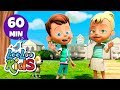 Head, Shoulders, Knees and Toes - FUN Songs for Children | LooLoo Kids