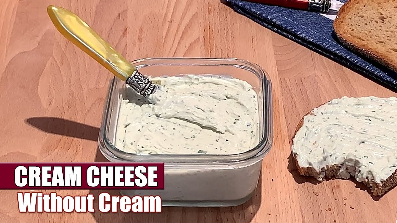How to Make Homemade Cream Cheese WITHOUT Cream - Easy & Quick Cheese Recipe