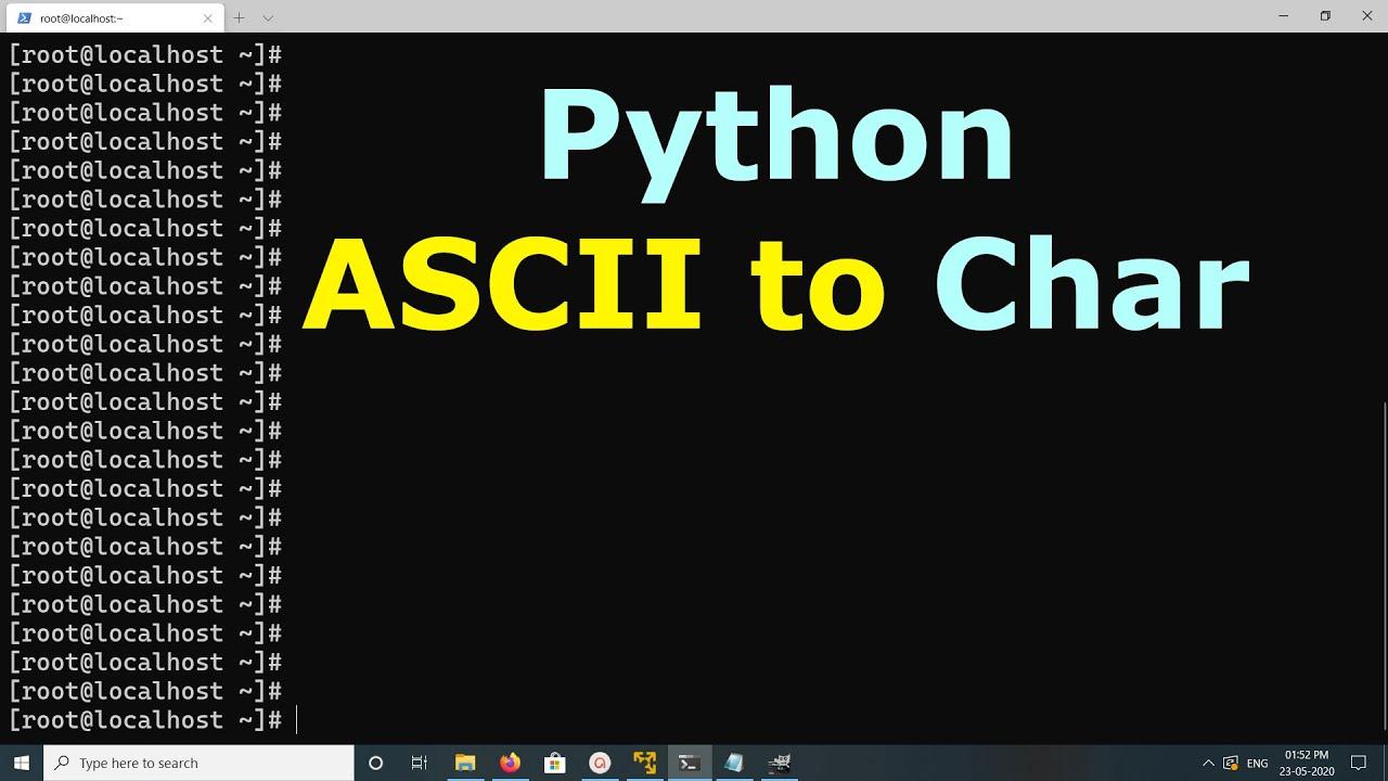 Python Convert ASCII to char