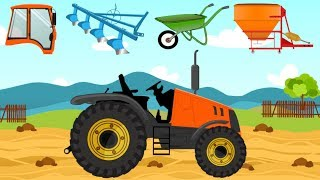 Farm Vehicles with wrong head | Tractor - formation and uses | What Machine? Bajki maszyny