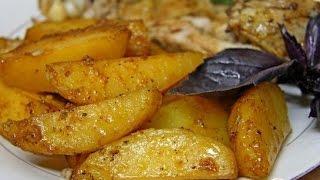 Картофель, запеченный в соевом соусе  Пошаговый рецепт