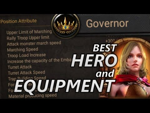 Who Is The Best HERO And EQUIPMENT For Governor?? [CoK]