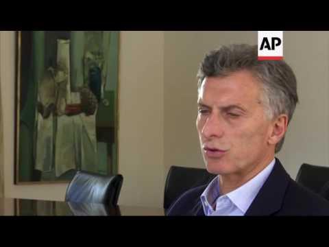 Macri interview days before Obama visits