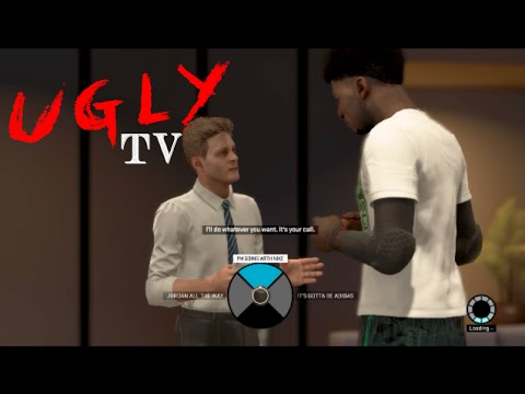 UglyTV- NBA 2K15 - MYPLAYER Jordan Nike Adidas Sneaker Contract PS4 X Box  One - YouTube