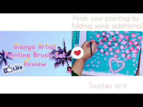 Bianyo artist paint brush review..with a beautiful painting || Maheen ArtFlow ||