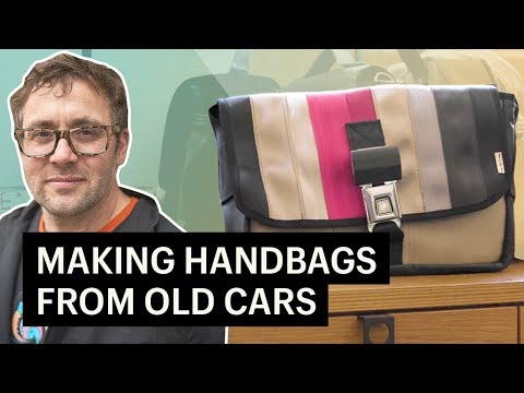 This Company Makes Upcycled Handbags From Cars | My Shopify Business Story
