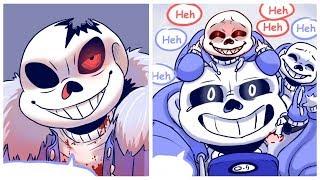 Sans Like Baby Underfell Sans?【Undertale Animation】Undertale Comic dubs Compilation