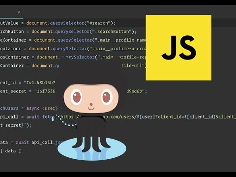 Using APIs In JavaScript -  Create A Github Profile Finder Application