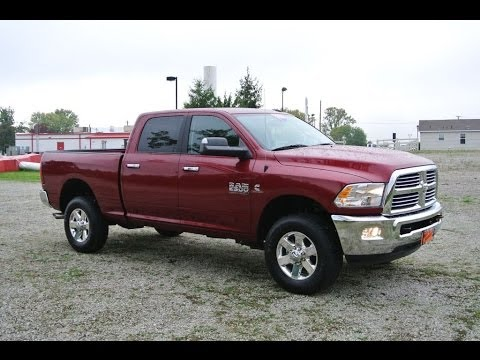 2014 ram 2500 slt truck red 4wd diesel for sale dayton troy piqua sidney ohio 26847t - Dodge Ram 2500 2014 Red