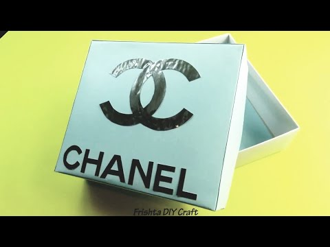 Diy Make Your Own Chanel Box Chanel Room Decor Chanel Crafts