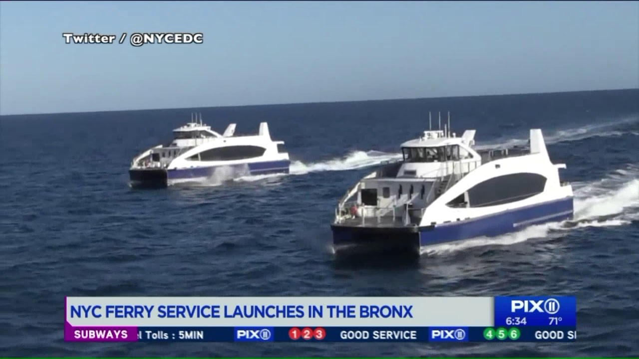 NYC Ferry service launches in the Bronx
