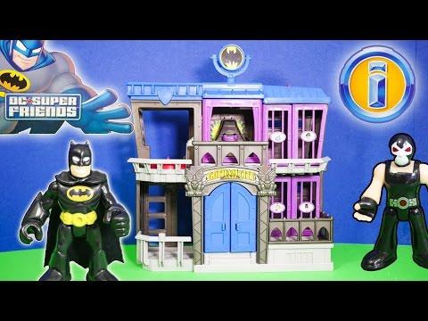 IMAGINEXT BATMAN DC Heroes Bathman Gotham City Jail with Bane a Imaginext Toy Video