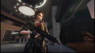 Cyberpunk girls with machine guns - GTA 5 EDITOR MODE
