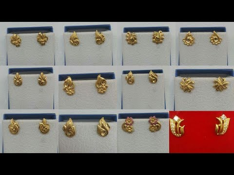 Latest Gold Small Ear-Studs Designs