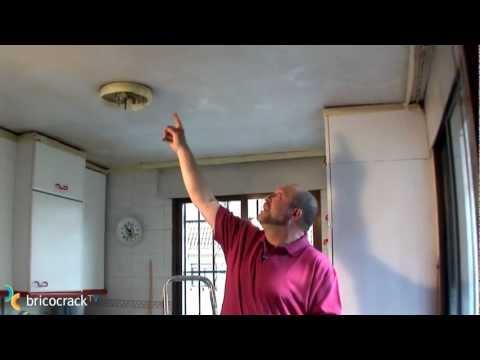 Preparar un techo para pintar bricocrack youtube for Plafones de pared leroy merlin